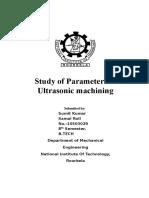 USM Study of Parameters of USM