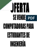 Se Vende Computadoras Para Estudiantes de Ingeniería
