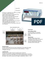 Function Generator, Oscilloscope