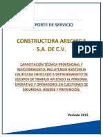 Formato de reporte de servicio de proyecto.