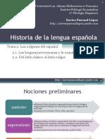 Historia Lengua Espanola Tema 2cr
