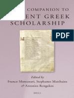 MONTANARI+R+Brll's Companion to Ancient Greek Scholarship. 1 & 2 (2015)