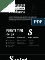 Como Elegir La Tipografia y Combinarla