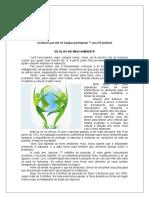 Avaliação Parcial de Língua Portuguesa 7º Ano III Unidade 2016 Aguiar