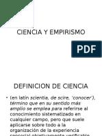 Ciencia y Empirismo