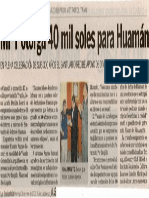 La Industria 31-05-09 MPT otorga 40 mil soles para Huamán