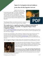 10 Eqyptian Gods 10 Plagues