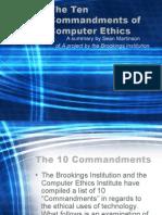 10 Commandments for Computer users