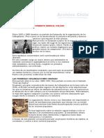 Origen Del Movimiento Sindical Chileno