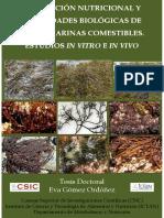 Evaluación Nutricional de Algas