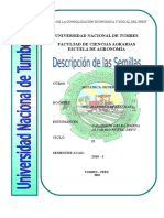 Descripcion Taxonomica de Las Semillas