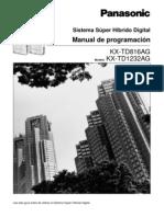 KX-TD1232AG Programacion Spanish
