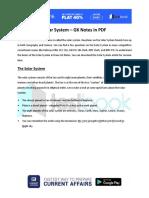 Solar System GK Notes in PDF
