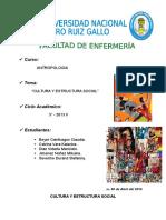 Cultura y Estructura Social