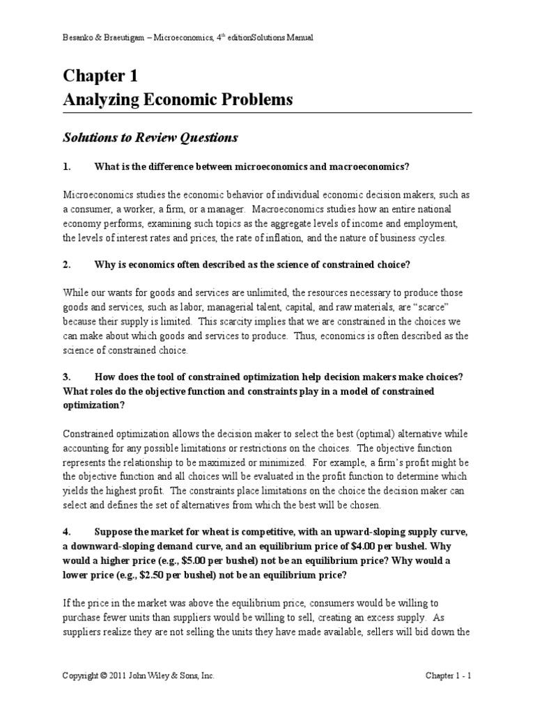 Microeconomics Besanko Pdf