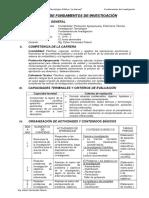 SILABO FUNDAMENTOS INVESTIGACIÓN 2016-2