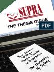 2013 SUPRA Thesis Guide 12th Edition