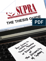 2013 SUPRA Thesis Guide 12th Edition