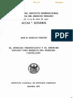 El Dereho Prehispanico y El Derecho Indiano