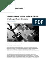 ¿Quién Domina El Mundo Pista No Son Los Estados, Por Noam Chomsky Red Filosófica Del Uruguay - Copy