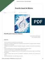 Planificación Anual de Música - Blog Carpeta Pedagógica