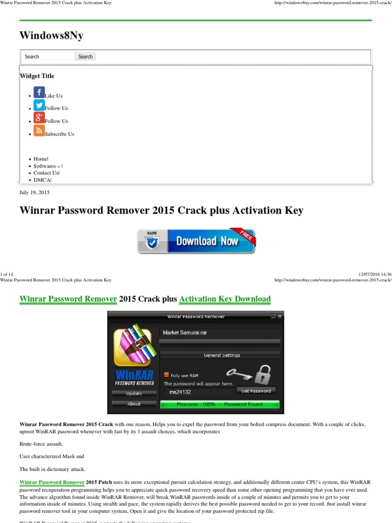 winrar password remover software free download