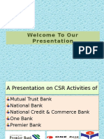 Presentation on CSR Activities of Banks