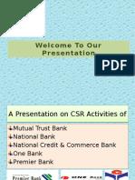 Presentation on CSR Activities of Banks