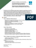 Mediciones y Diseño de Sistemas de Fibra Óptica