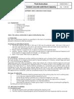 1.0 Block Masonry Work Methodology