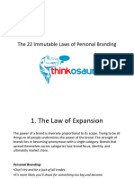 The 22 Immutable Laws of Personal Branding by Thinkosaur