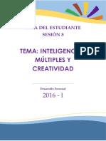 GUIA 8-  INTELIGENCIAS MÚLTIPLES Y CREATIVIDAD