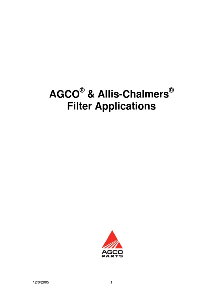 Agco parts filter guide nvjuhfo Images