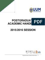 Postgraduate Student Handbook UUM