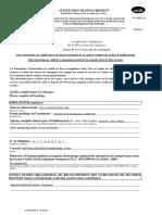 Ejemplo Certificado Desplazamiento Francia