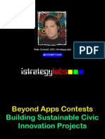 Beyond Apps Contests - Building Sustainable Civic Innovation Projects