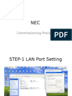 NEC NEO Commissioning Procedure