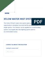 XFlow Water Mist System