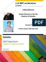 Impact of GST on Services by Muralidharan and Soumya