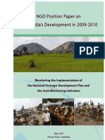 NGO Position Papers on Cambodia Development in 2009-2010