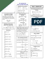 Calculus Formulae