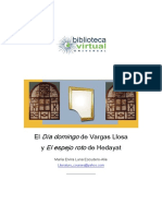 Artículo Sadegh Hedayat Vargas Llosa