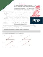 Prueba Matematica 7 Básico N1