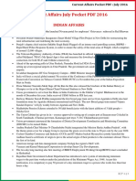 Current Affairs Pocket PDF - July 2016 by AffairsCloud