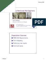 Lightly-Reinforced Wall Segments FEMA