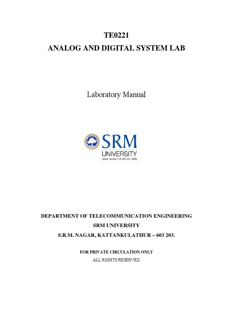 Lab Manual Adslatest Amplifier Operational Circuitlab 555 Bistable Circuit