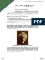 Historia de La Fotografía (Orígenes)