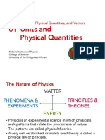 1.01 Units and Physical Quantities