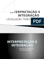 Interpretacao e Integracao- Tributario