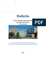 2016 Engineering ManagementMSc Bulletin